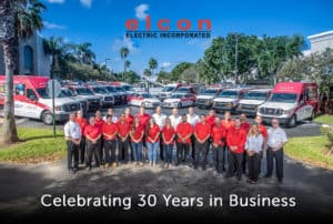 elcon electric team celebrating 30 years of business